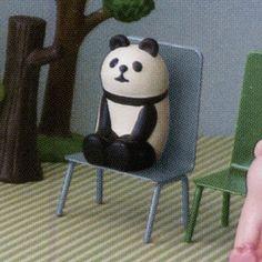 デコレ コンコンブル まったり椅子カードスタンド パンダ