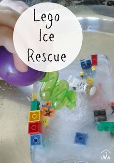 Cool down outdoors this summer with our Lego Ice Cube Rescue activity. Make it in advance and have it ready to play with in your backyard during the summer holidays. Sensory Bins, Sensory Activities, Infant Activities, Sensory Play, Preschool Activities, Children Activities, Educational Activities, Preschool Arts And Crafts, Preschool Science