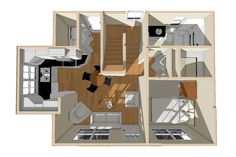 Exclusive Small Home Plan with Two Bedrooms - Small Cottage House Plans, Lake House Plans, Cottage Plan, Bedroom House Plans, Tiny House Living, Small House Plans, Two Bedroom, House Floor Plans, Bedrooms