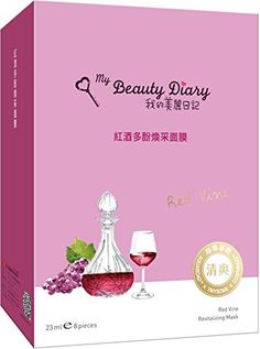 My Beauty Diary My Beauty Diary Red Vine Revitalizing Mask 2016 NEW VERSION 8  Piece -- Check this awesome product by going to the link at the image.