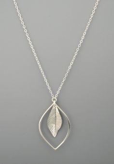 Single leaf sterling silver pendent Rachel Wilder by rachelwilder, $66.00