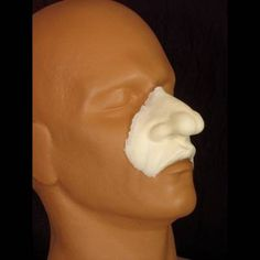 Professional FX makeup appliance cleft nose (bum nose) and upper lip prosthetic. For professional use only. Made of foam latex. Sculpted by Hollywood makup artist Rob Burman. See more about Rob Burman