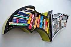 Batman Bookshelves. $267.00, via Etsy.