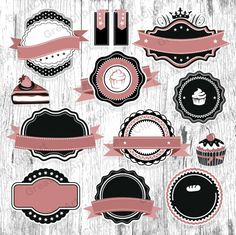 22 Pink Vintage Frames clipart set of labels retro frames Web Design, Blog Design, Cake Logo Design, Bakery Packaging, Packaging Ideas, Bakery Logo, Frame Clipart, Vintage Pink, Vintage Style