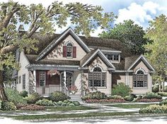 Country House Plan with 1992 Square Feet and 3 Bedrooms(s) from Dream Home Source   House Plan Code DHSW52788