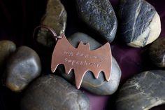 SALE  Batman Keychain  My Dad My Superhero  by DistinctlyIvy