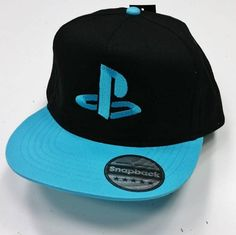 Snap back hat,PlayStation, PS logo, Caps,embroidery,machine embroidered,Playstation logo on snap back hat, Customizable thread color by NeedleArtGR on Etsy