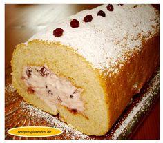 Tanja`s glutenfreies Kochbuch » Buchweizen-Biskuit mit Preiselbeersahne
