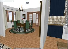 Renderings that show how the interior could be restored for a historic house. Decor, Furniture, House, Interior, Old Kitchen, Historic Homes, Home Decor, Restoration, Mirror