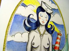 Tattoo, mermaid
