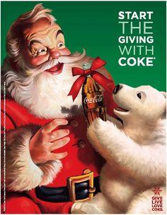 Coca-Cola, Coke, Santa Claus and polar bear Coke Santa, Coca Cola Santa Claus, Coca Cola Polar Bear, Vintage Coca Cola, Vintage Ads, Vintage Santas, Vintage Christmas, Christmas Pics, Papa Noel