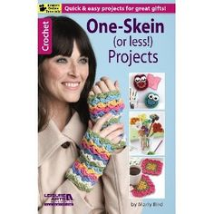NEW LA75495 One-Skein (or less!) Projects One-Skein Projects presents a big collection of fun little gifts to crochet. Make each design with less than one skein of medium weight yarn, or create coordinated sets using multiple skeins of yarn in different colors. http://www.maggiescrochet.com/products/one-skein-or-less-projects