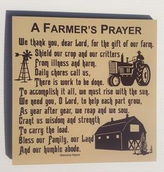 Gift for farmer Farm Quotes, Country Quotes, Me Quotes, Western Quotes, Athletes Prayer, Prayer Signs, Farm Lifestyle, Gifts For Farmers, Advertising And Promotion