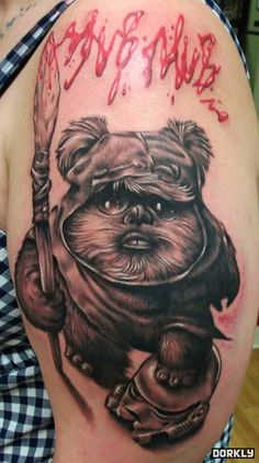 site of star wars tattoos... evil little ewok :)