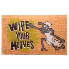 Made from robust natural coir fibre with a durable rubber backing these will last for ages and withstand the busiest households. Natural Door Mats, Shaun The Sheep, Funny Doormats, Welcome Door Mats, Coir Doormat, Tk Maxx, Novelty Gifts, Little Gifts, Things To Buy