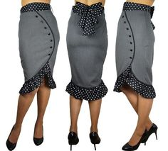 Super Cute Ruffled Skirt (fabulous range of affordable retro & unique clothes 8-18!)