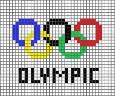 How to cross stitch art. Cross Stitch Olympic Rings - Step 1