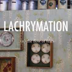 Lachrymation |ˌlakrɪˈmeɪʃ(ə)n| ORIGIN late 16th cent.: from Latinlacrimatio(n-), from lacrimare 'weep', from lacrima 'tear' #beautifulwords #wordoftheday #wallpaper #Lisbon #LXFactory #cafeinterior