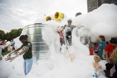 Get Sudsed Up by Chicago's Foam-Spewing Sculpture - Creators