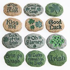 Irish Blarney Stones are perfect St. Pat's Day decorations!