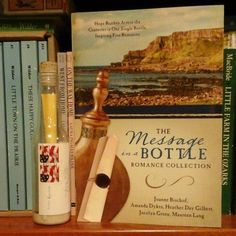 Amanda's book is right next to the message she sent to her beloved, via bottle, which the USPS delivered across the country for her! How cool is that?!
