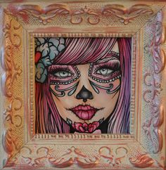 Pop surealism tattoo | ... Tattoo Home decor art sugar skull Pop Surrealism big eye lowbrow