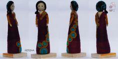 Nerina, Escultura en Fieltro agujado. www.pecorinapecorina@gmail.com
