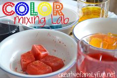 What do you get when you combine art with science? A Color Mixing Lab! ~ Creative Family Fun