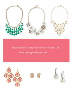 {Fashion Friday} Gorgeous Bridal Jewelry from Stella and Dot | Pretty Pear Bride