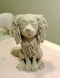 Clay creature | making whole puppies again, who knew?