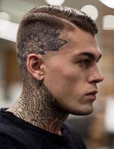 """Stephen James hair by Kevin Luchmun - Tão bonito, mas acho que já passou do limite com as """"tattoo""""...na cabeça? por favor, NÃO!!!"""