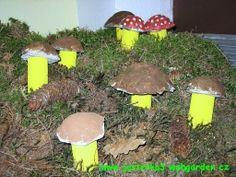 Houby detail Nature Crafts, Autumn, Outdoor Decor, Advent, Preschool, Fall Season, Kid Garden, Fall, Kindergarten