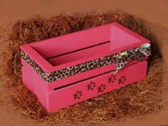 Dog Toy Box, Dog Storage, Gifts For Dog Owners, Little Bow, Toy Boxes, Dog Toys, Wooden Boxes, Toy Chest, Decorative Boxes