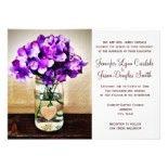 Country Mason Jar Hydrangea Wedding Invitations