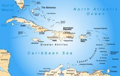 Liste aller Länder in der Karibik Antigua Und Barbuda, Trinidad Und Tobago, Greater Antilles, Caribbean Sea, Haiti, Honduras, Puerto Rico, Mexico, Caribbean