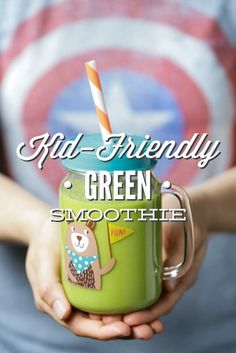 The BEST Kid-Friendly Green Smoothie (AKA: The Superhero Hulkbuster). This superhero drink is naturally-sweetened with fruit and packed with leafy greens. Your kids will love this tasty treat and probably even beg for more :). http://livesimply.me/2015/04/21/kid-friendly-green-smoothie-aka-the-hulkbuster/