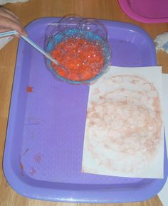 Bubble Painting Pumpkin Patch - - Pinned by #PediaStaff.  Visit http://ht.ly/63sNt for all our pediatric therapy pins