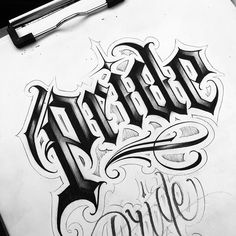 No photo description available. Tattoo Lettering Design, Chicano Lettering, Graffiti Lettering Fonts, Calligraphy Tattoo, Graffiti Tattoo, Tattoo Name Fonts, Tattoo Fonts Alphabet, Cursive Tattoos, Tattoo Script