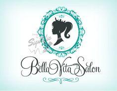 Vintage Hair Salon Logo Custom Hairdresser by SigntificDesigns