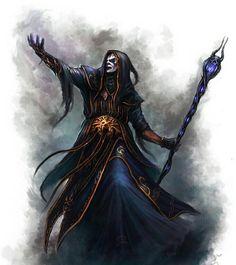 The Warlock Necromancer by Manzanedo on DeviantArt Fantasy Wizard, Fantasy Witch, Fantasy Monster, High Fantasy, Fantasy Rpg, Medieval Fantasy, Fantasy Heroes, Fantasy Male, Fantasy Portraits