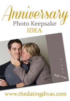 Anniversary Photo Keepsake Idea from The Dating Divas!