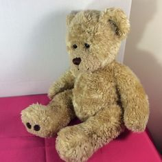 "Build-a-Bear Plush Stuffed Animal TEDDY BEAR Lt Brown 16"" Curly Fur w/o Clothes #BuildaBear #AllOccasion"