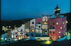 Hundertwasser- Thermal Village, Blumau, Austria, 1993-97. hundertwasser.at