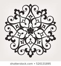Similar Circular pattern. Round vintage vector ornament in Arabesque style. Images, stock photos and vectors - Stencil Patterns, Stencil Painting, Pattern Art, Pattern Design, Motif Arabesque, Abstract Illustration, Arabic Pattern, Islamic Wall Art, Recycled Crafts