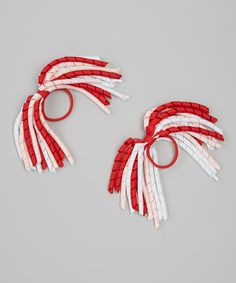 Take a look at this Red & Pink Korker Hair Tie Set by My Little Legs on #zulily today! KZ: super cute for spirit day