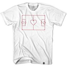 Heart Soccer Field T-shirt ...cool!