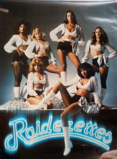 Happy Superbowl Sunday!! We can't say we don't watch it for the snacks, fun commercials and half time show extravaganza, but yeah we guess Football can be fun too... Especially if you were a cheerleader in the 80s! Damn, Raiderettes! Can we tryout please??
