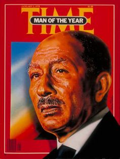 1977: Anwar Sadat Magazine Man, Time Magazine, Magazine Covers, Ap World History, Modern History, Time Vault, President Of Egypt, Time News, Photorealism