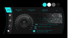 Car dashboard UI by Clay CunDiff