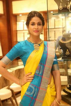 Lavanya Tripathi In Yellow Saree at RS Brothers Launch ★ Desipixer ★ Blouse Designs Silk, Yellow Saree, Saree Trends, Saree Models, Stylish Sarees, Soft Silk Sarees, Elegant Saree, Bollywood Saree, Saree Styles